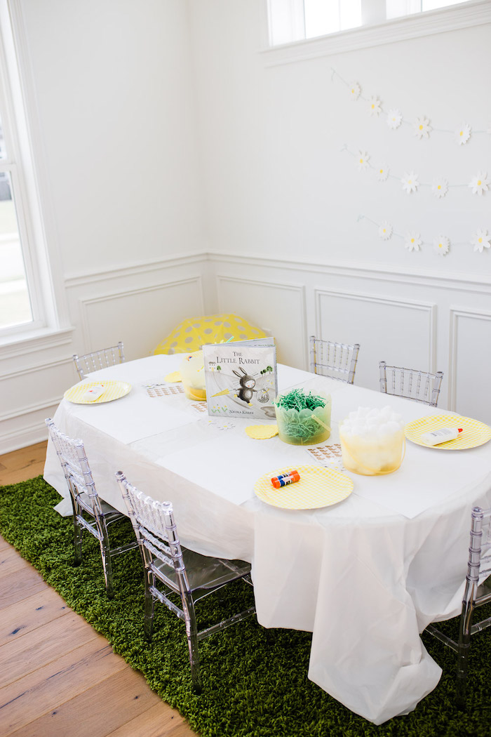Spring Activity Table from The Little Rabbit Inspired Spring Play Date Party on Kara's Party Ideas | KarasPartyIdeas.com (16)