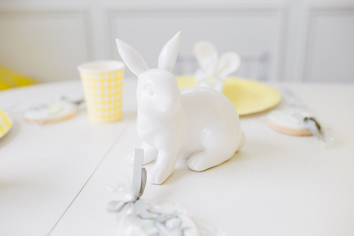 Ceramic Bunny Table Centerpiece from The Little Rabbit Inspired Spring Play Date Party on Kara's Party Ideas | KarasPartyIdeas.com (50)