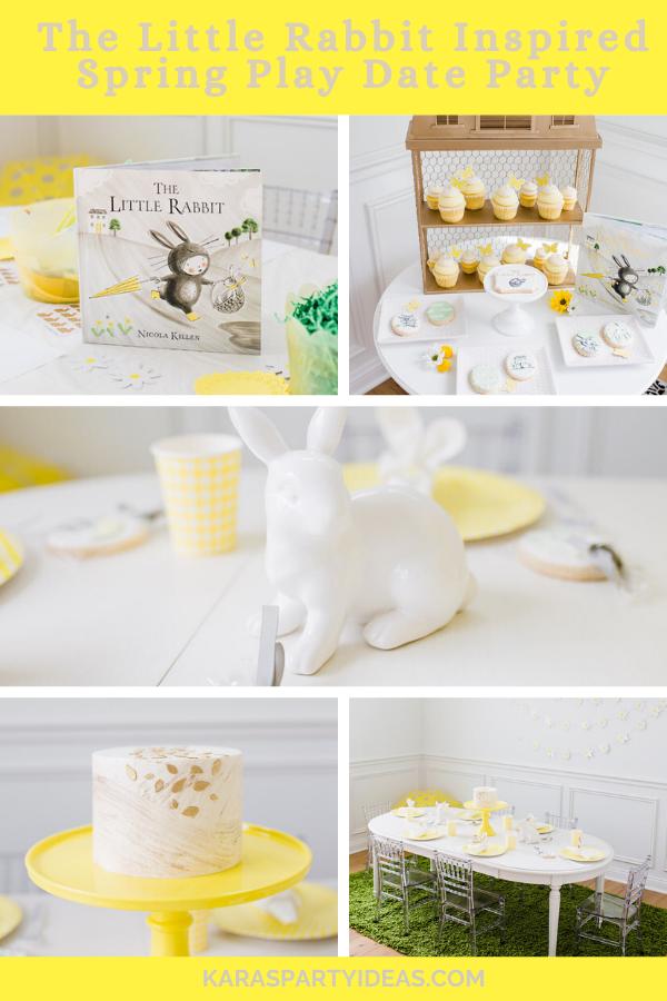 The Little Rabbit Inspired Spring Play Date Party via Kara's Party Ideas - KarasPartyIdeas.com