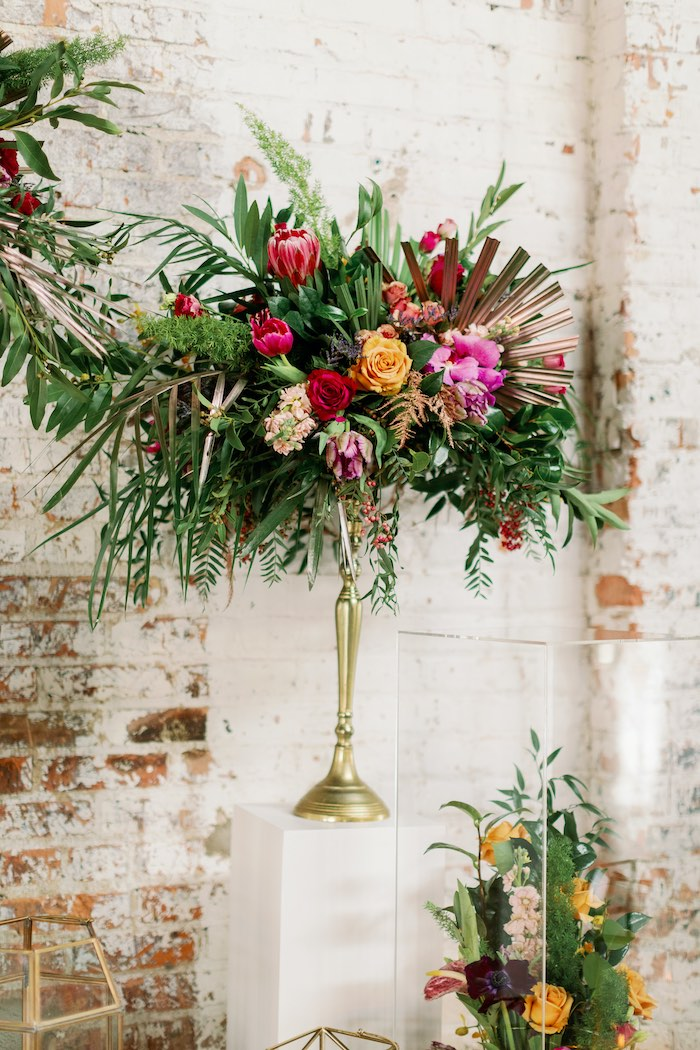 Tropical Floral Urban Wedding on Kara's Party Ideas | KarasPartyIdeas.com (36)