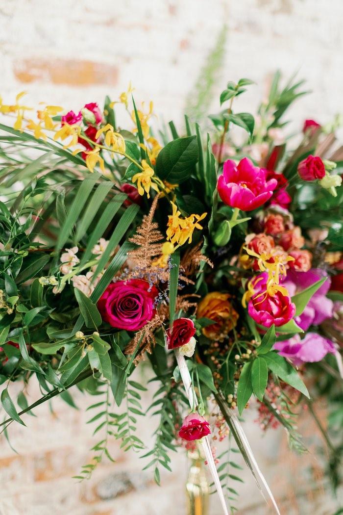 Tropical Floral Urban Wedding on Kara's Party Ideas | KarasPartyIdeas.com (35)