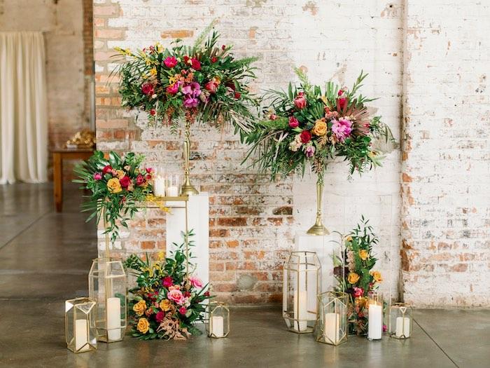 Tropical Bloom Backdrop from a Tropical Floral Urban Wedding on Kara's Party Ideas | KarasPartyIdeas.com (34)