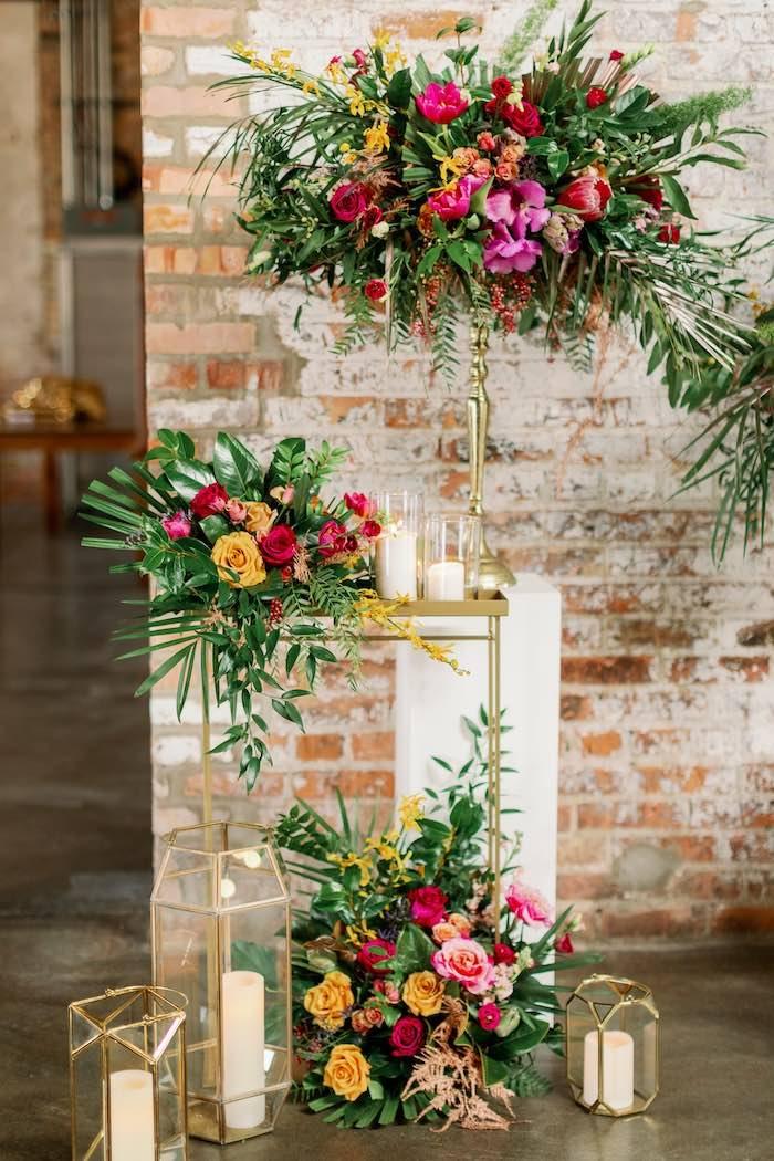 Tropical Floral Urban Wedding on Kara's Party Ideas | KarasPartyIdeas.com (33)