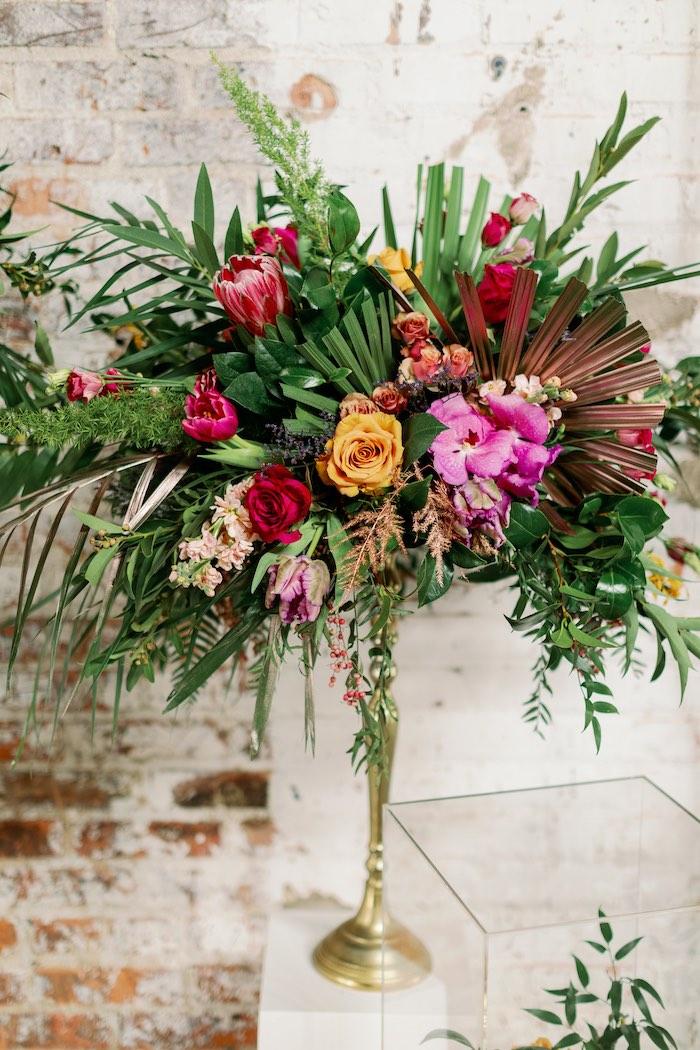 Tropical Floral Urban Wedding on Kara's Party Ideas | KarasPartyIdeas.com (32)