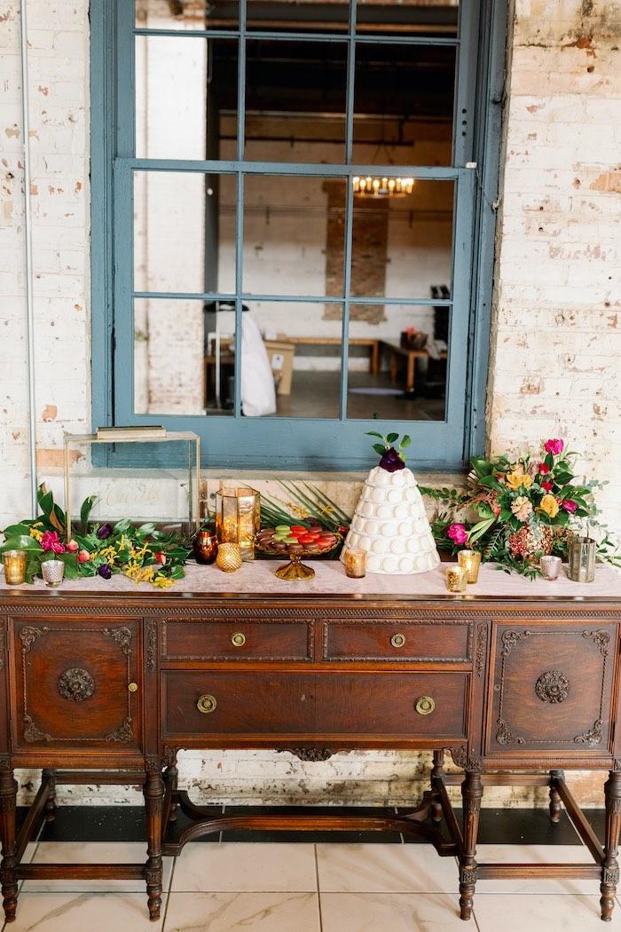 Dessert Table from a Tropical Floral Urban Wedding on Kara's Party Ideas | KarasPartyIdeas.com (30)