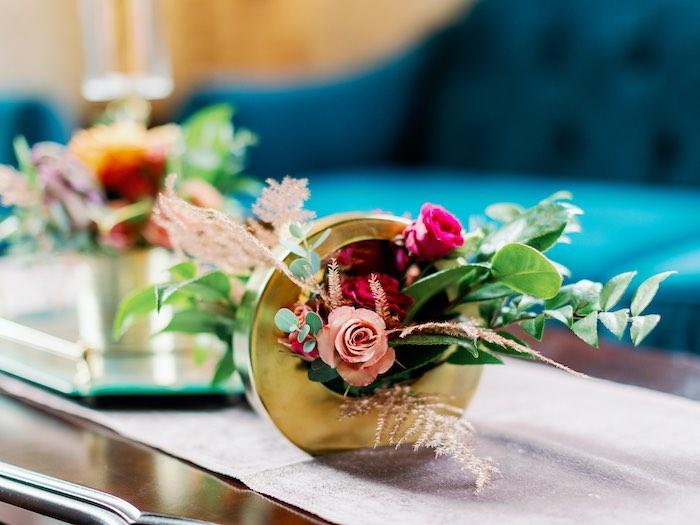 Floral Disk from a Tropical Floral Urban Wedding on Kara's Party Ideas | KarasPartyIdeas.com (46)