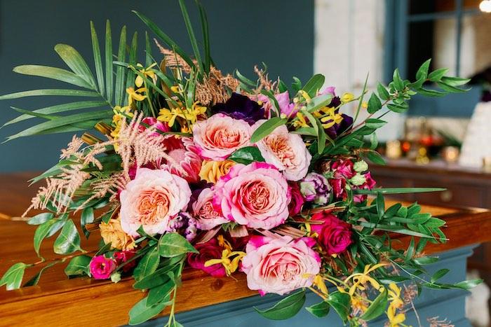 Tropical Floral Urban Wedding on Kara's Party Ideas | KarasPartyIdeas.com (27)