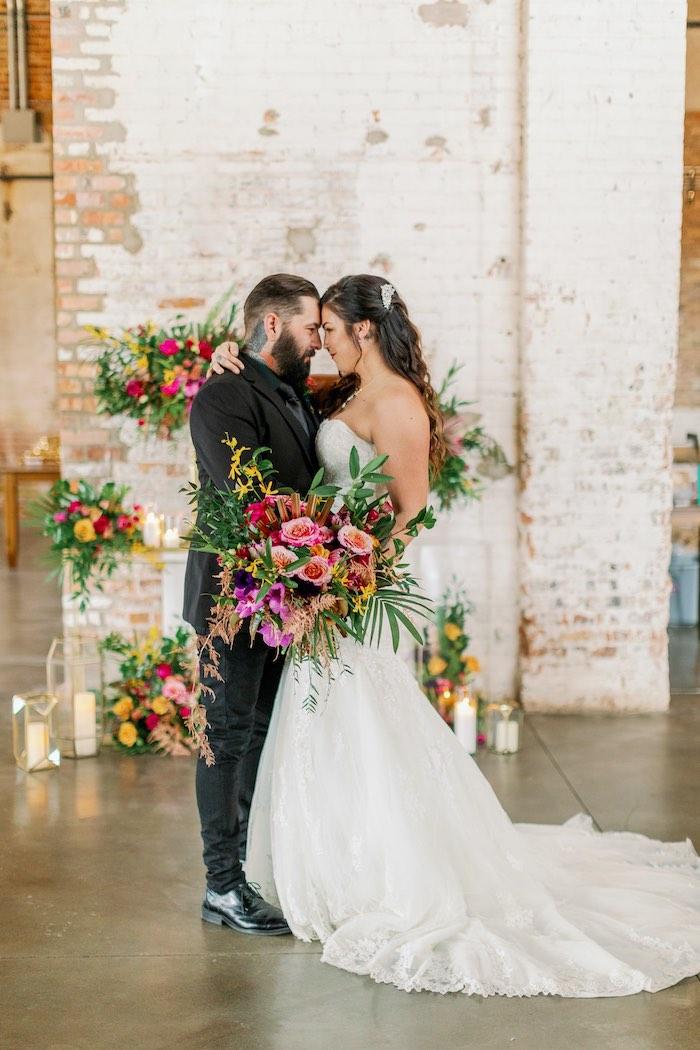 Tropical Floral Urban Wedding on Kara's Party Ideas | KarasPartyIdeas.com (24)