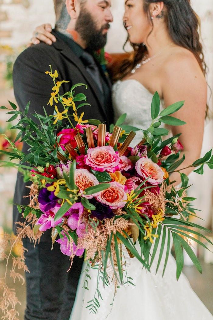Tropical Floral Urban Wedding on Kara's Party Ideas | KarasPartyIdeas.com (23)