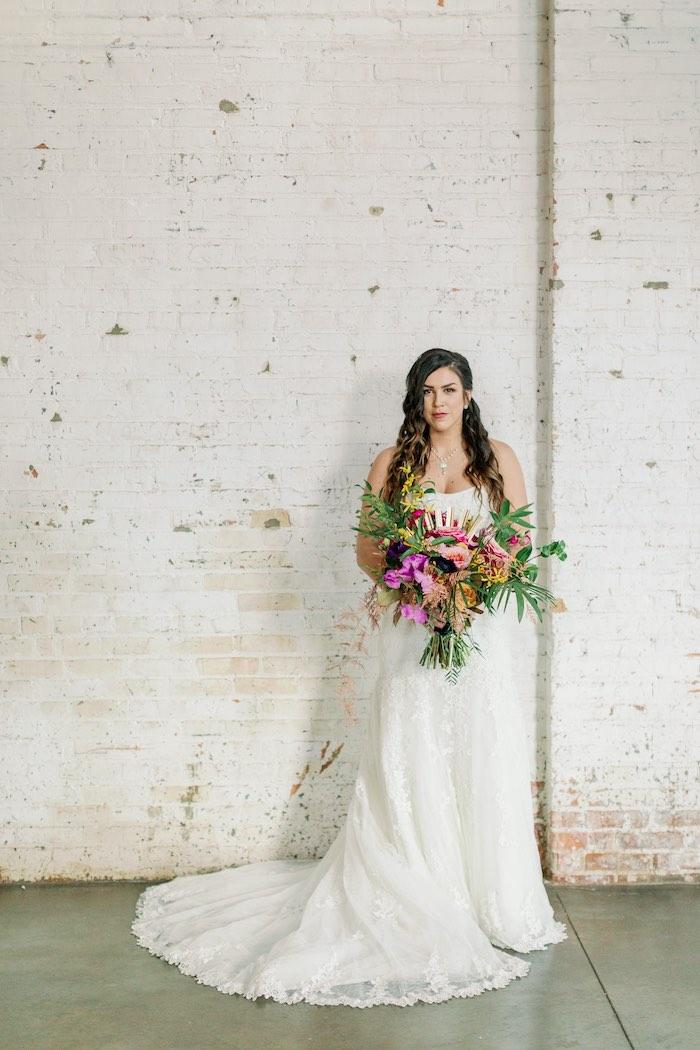 Tropical Floral Urban Wedding on Kara's Party Ideas | KarasPartyIdeas.com (19)