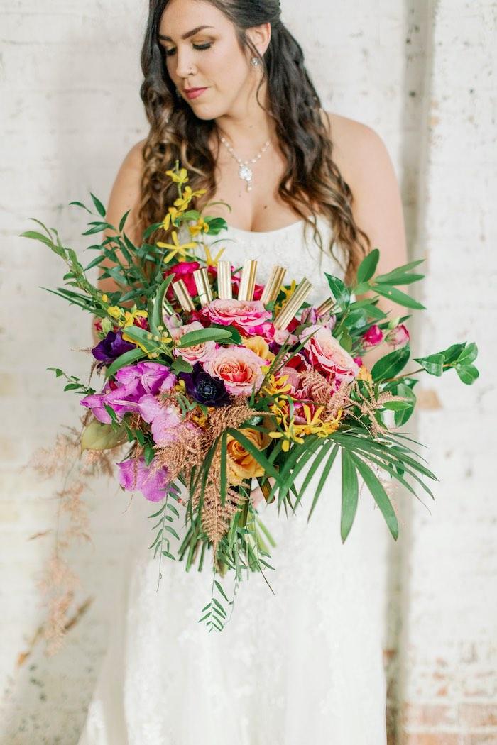 Tropical Floral Urban Wedding on Kara's Party Ideas | KarasPartyIdeas.com (18)