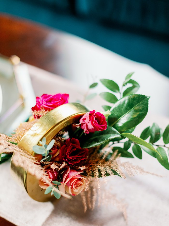 Floral Disk from a Tropical Floral Urban Wedding on Kara's Party Ideas | KarasPartyIdeas.com (45)
