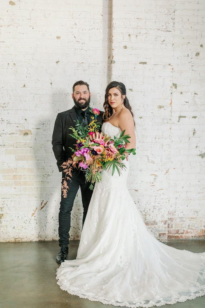 Tropical Floral Urban Wedding on Kara's Party Ideas | KarasPartyIdeas.com (17)