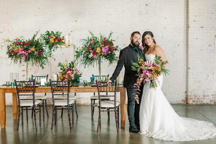 Tropical Floral Urban Wedding on Kara's Party Ideas | KarasPartyIdeas.com (16)