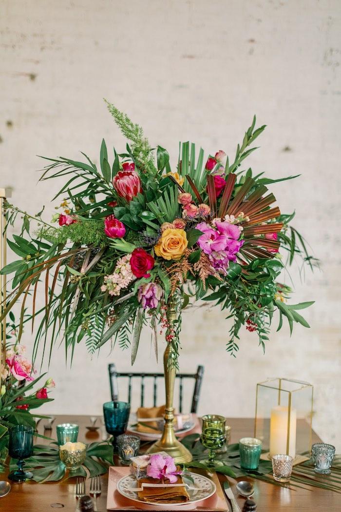 Tropical Floral Urban Wedding on Kara's Party Ideas | KarasPartyIdeas.com (10)