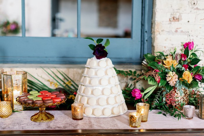 Dessert Table from a Tropical Floral Urban Wedding on Kara's Party Ideas | KarasPartyIdeas.com (42)
