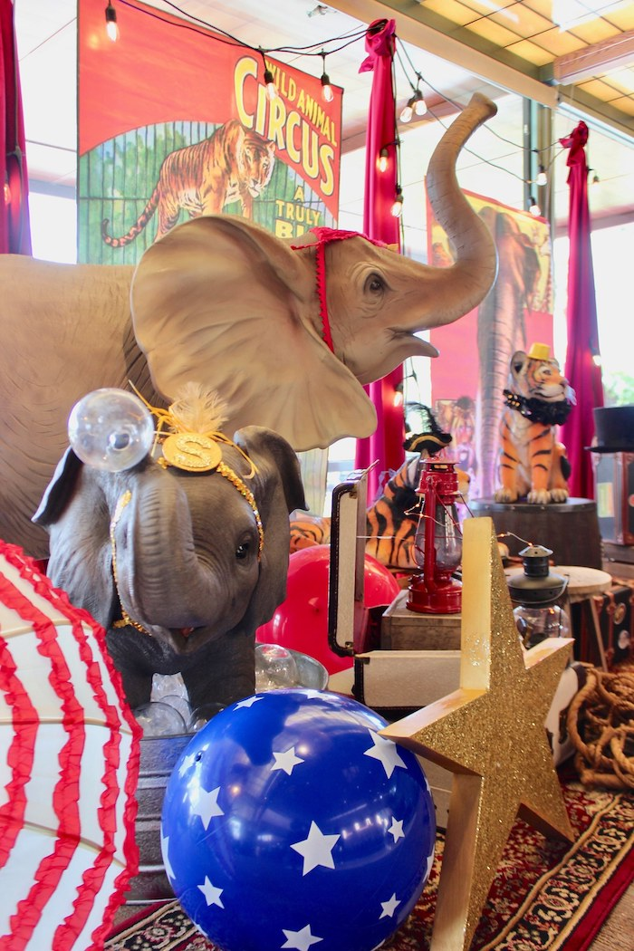 Elephants from a Vintage Circus Baby Shower on Kara's Party Ideas | KarasPartyIdeas.com (13)
