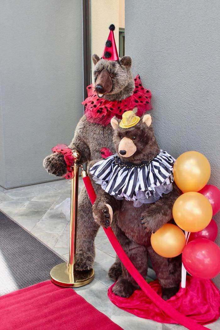 Circus Bears from a Vintage Circus Baby Shower on Kara's Party Ideas | KarasPartyIdeas.com (18)