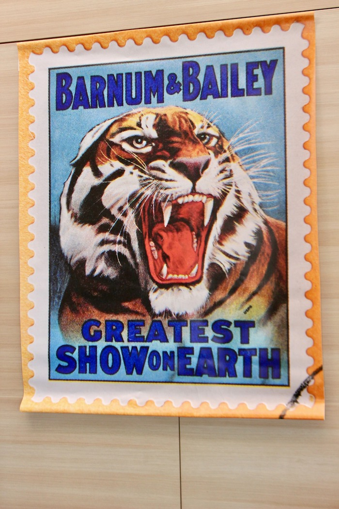 Vintage Tiger Poster from a Vintage Circus Baby Shower on Kara's Party Ideas | KarasPartyIdeas.com (15)