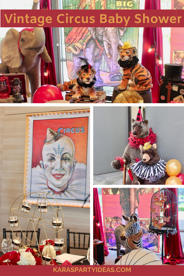 Vintage Circus Baby Shower via Kara's Party Ideas - KarasPartyIdeas.com