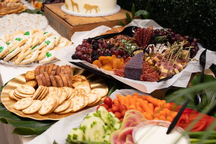Veggie + Charcuterie Platters from a Wild ONE Golden First Birthday Party on Kara's Party Ideas | KarasPartyIdeas.com (22)