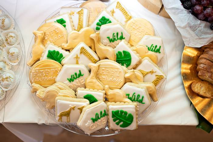 Jungle/Safari Animal Cookies from a Wild ONE Golden First Birthday Party on Kara's Party Ideas | KarasPartyIdeas.com (17)