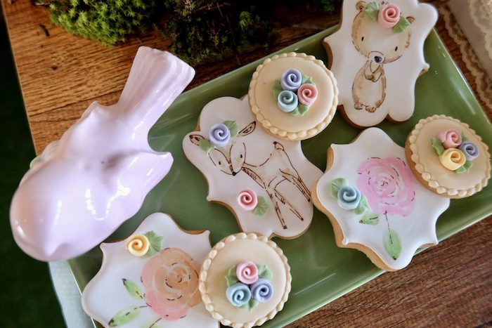 Woodland-inspired Cookies from a Woodland Animal Birthday Party on Kara's Party Ideas | KarasPartyIdeas.com (26)