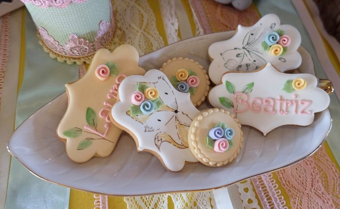 Woodland Themed Cookies from a Woodland Animal Birthday Party on Kara's Party Ideas | KarasPartyIdeas.com (40)