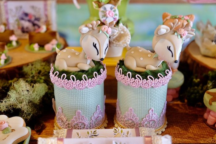 Deer Favor Jars from a Woodland Animal Birthday Party on Kara's Party Ideas | KarasPartyIdeas.com (11)