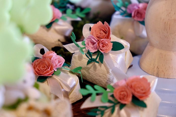 Rose Favors from a Woodland Animal Birthday Party on Kara's Party Ideas | KarasPartyIdeas.com (9)