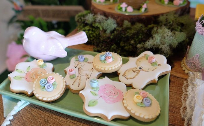 Woodland Cookies from a Woodland Animal Birthday Party on Kara's Party Ideas | KarasPartyIdeas.com (6)