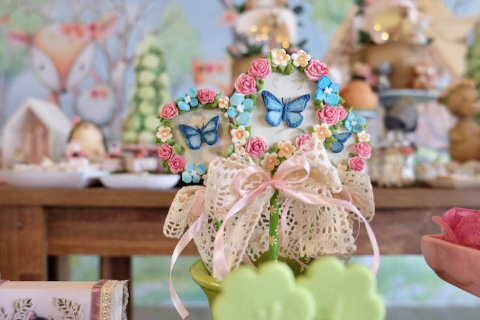 Butterfly Lollipops from a Woodland Animal Birthday Party on Kara's Party Ideas | KarasPartyIdeas.com (32)