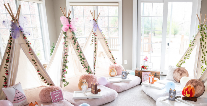 Woodland Enchanted Forest Birthday Party on Kara's Party Ideas | KarasPartyIdeas.com (1)