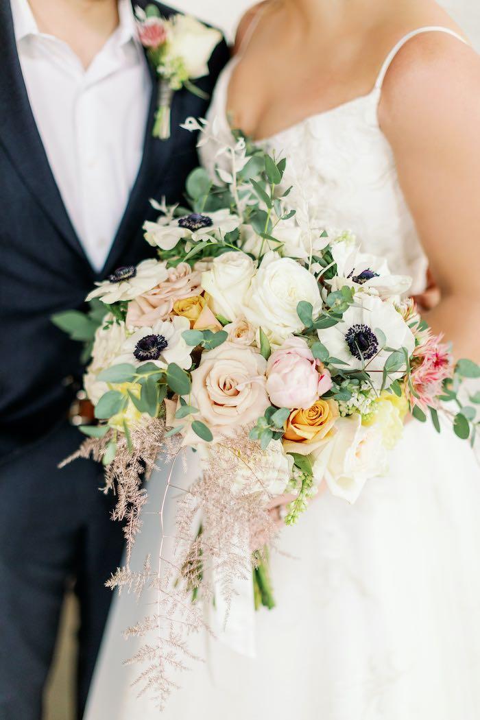 Bridal Bouquet from a Dreamy Vintage Wedding on Kara's Party Ideas | KarasPartyIdeas.com (27)