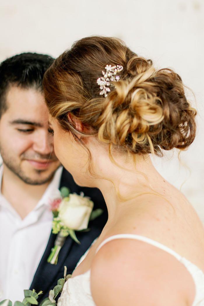 Bridal Hair from a Dreamy Vintage Wedding on Kara's Party Ideas | KarasPartyIdeas.com (26)