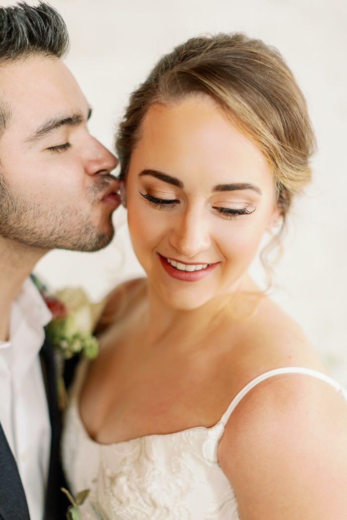 Bridal Makeup from a Dreamy Vintage Wedding on Kara's Party Ideas | KarasPartyIdeas.com (25)