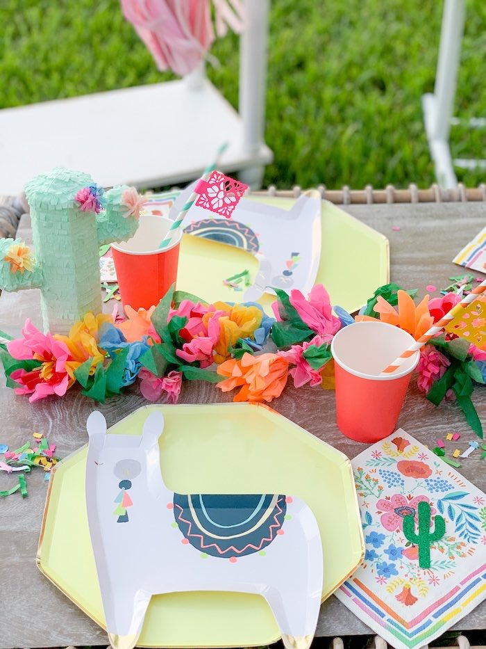 Fiesta table settings from a