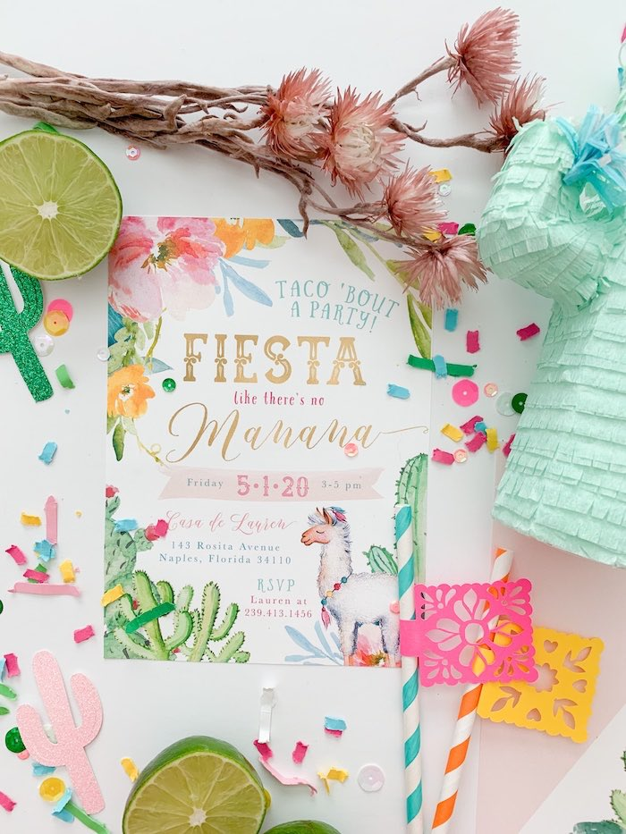 Fiesta invitation from a