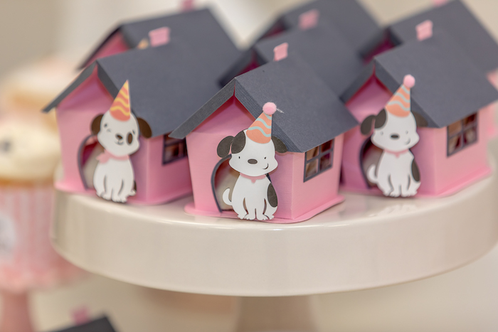 Dog House Dessert/Favor Boxes from a 2nd Birthday Puppy Paw-ty on Kara's Party Ideas | KarasPartyIdeas.com (17)
