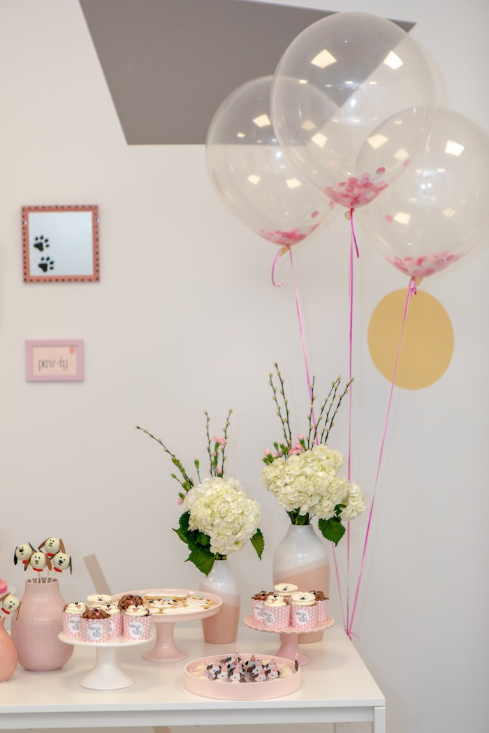 Balloons and Blooms from a 2nd Birthday Puppy Paw-ty on Kara's Party Ideas | KarasPartyIdeas.com (11)