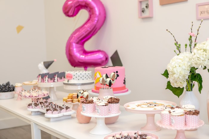 Puppy Themed Dessert Table from a 2nd Birthday Puppy Paw-ty on Kara's Party Ideas | KarasPartyIdeas.com (10)
