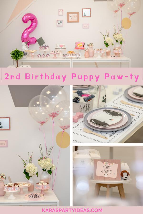 2nd Birthday Puppy Paw-ty via Kara's Party Ideas - KarasPartyIdeas.com