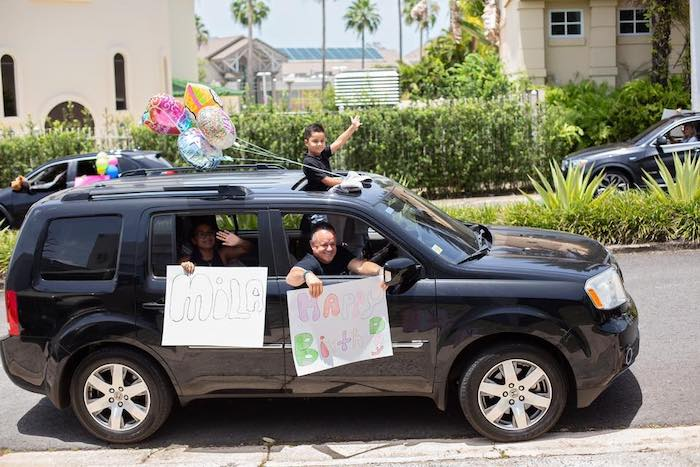 Birthday Parade from a Barbie Quarantine Birthday Party + Parade on Kara's Party Ideas | KarasPartyIdeas.com (17)