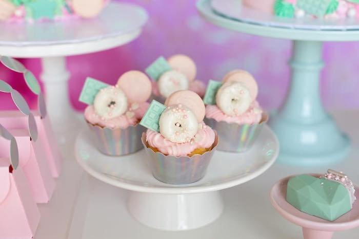 Dessert-topped Cupcakes from a Cupcakes from a Barbie Quarantine Birthday Party + Parade on Kara's Party Ideas | KarasPartyIdeas.com (9)