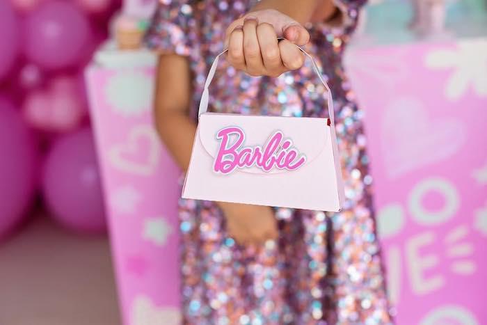 Barbie Purse from a Barbie Quarantine Birthday Party + Parade on Kara's Party Ideas | KarasPartyIdeas.com (5)