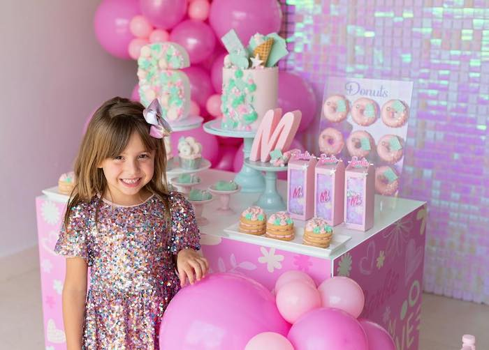 Barbie Sweet Table from a Barbie Quarantine Birthday Party + Parade on Kara's Party Ideas | KarasPartyIdeas.com (25)