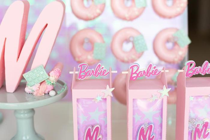 Barbie Gift Boxes from a Barbie Quarantine Birthday Party + Parade on Kara's Party Ideas | KarasPartyIdeas.com (23)