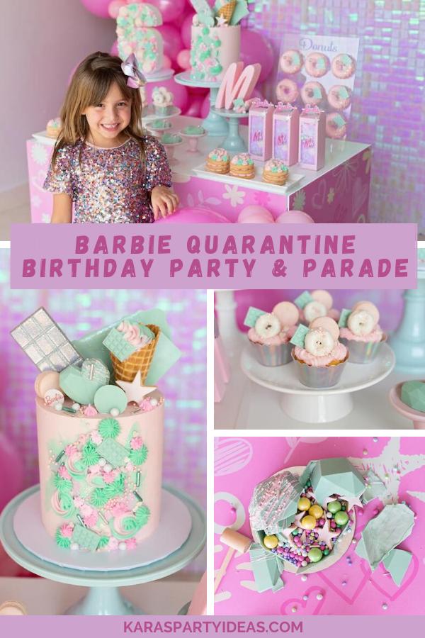 Barbie Quarantine Birthday Party & Parade via Kara's Party Ideas - KarasPartyIdeas.com