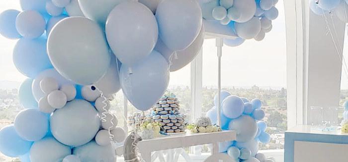 Blue Elephant Baby Shower on Kara's Party Ideas | KarasPartyIdeas.com (1)