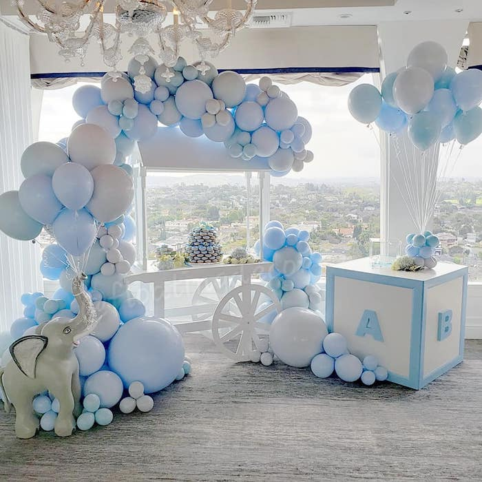 Blue Elephant Baby Shower on Kara's Party Ideas | KarasPartyIdeas.com (9)
